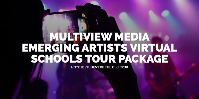 MULTIVIEW MEDIA EMERGING ARTISTS VIRTUAL SCHOOLS TOUR PACKAGE