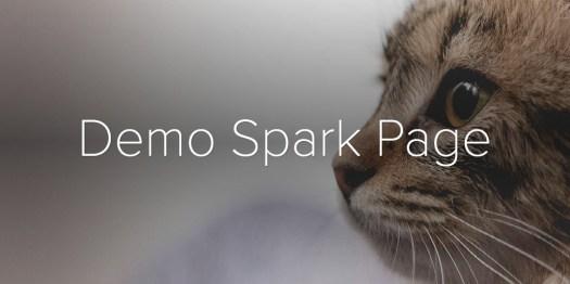 Demo Spark Page