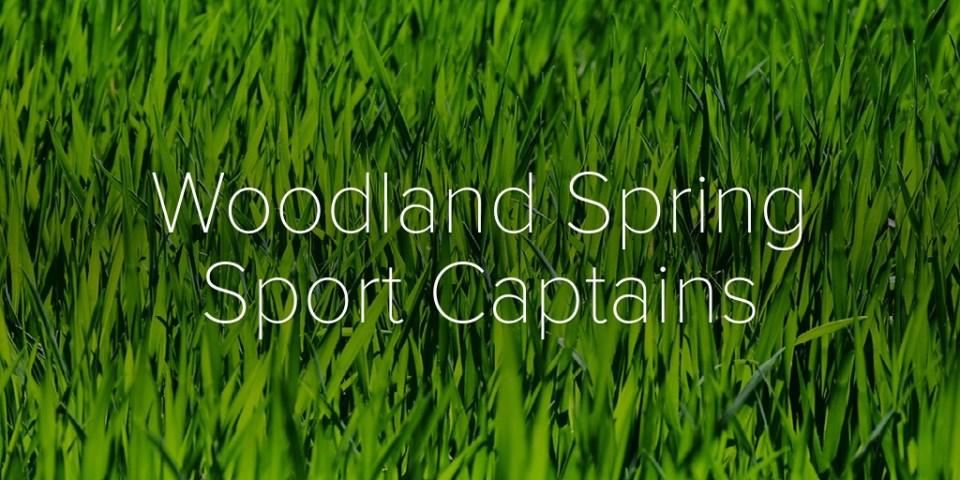 Woodland Spring Sport Captains