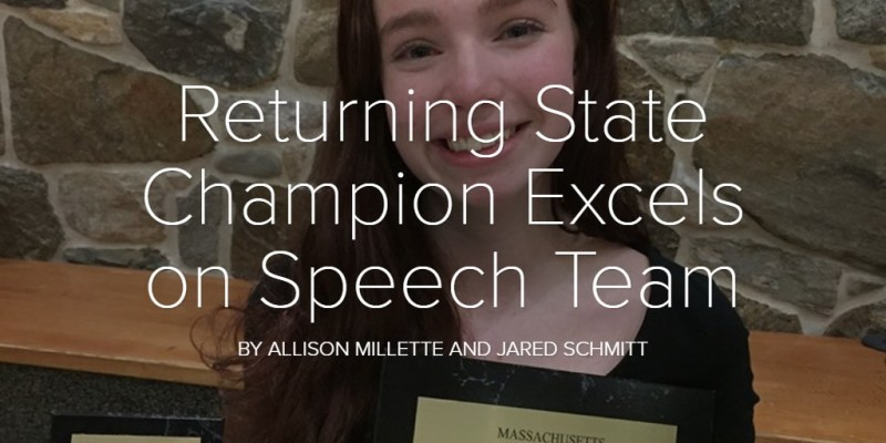 Returning State Champion Excels on Speech Team
