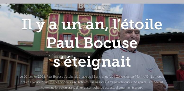 Il y a un an, l'étoile Paul Bocuse s'éteignait