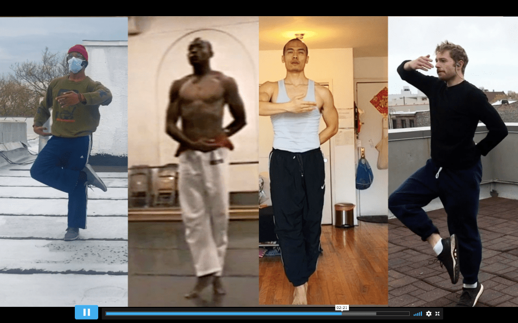 Four dancers interpret a phrase from