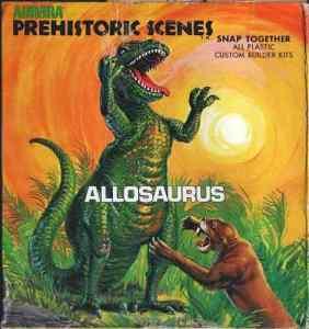 An Aurora model of the Allosaurus, from collector tylisaari
