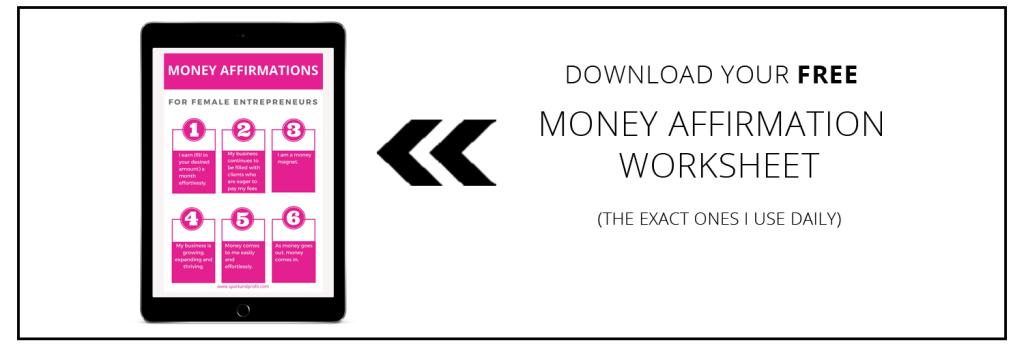 money affirmations worksheet