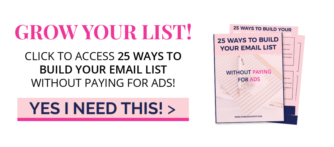 GROW YOUR LIST BUTTON
