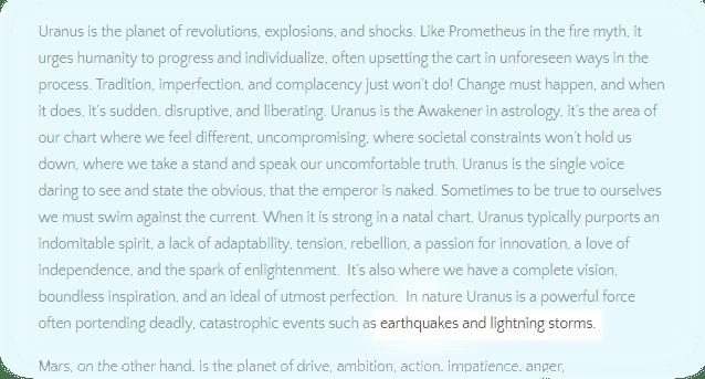 Uranus excerpt