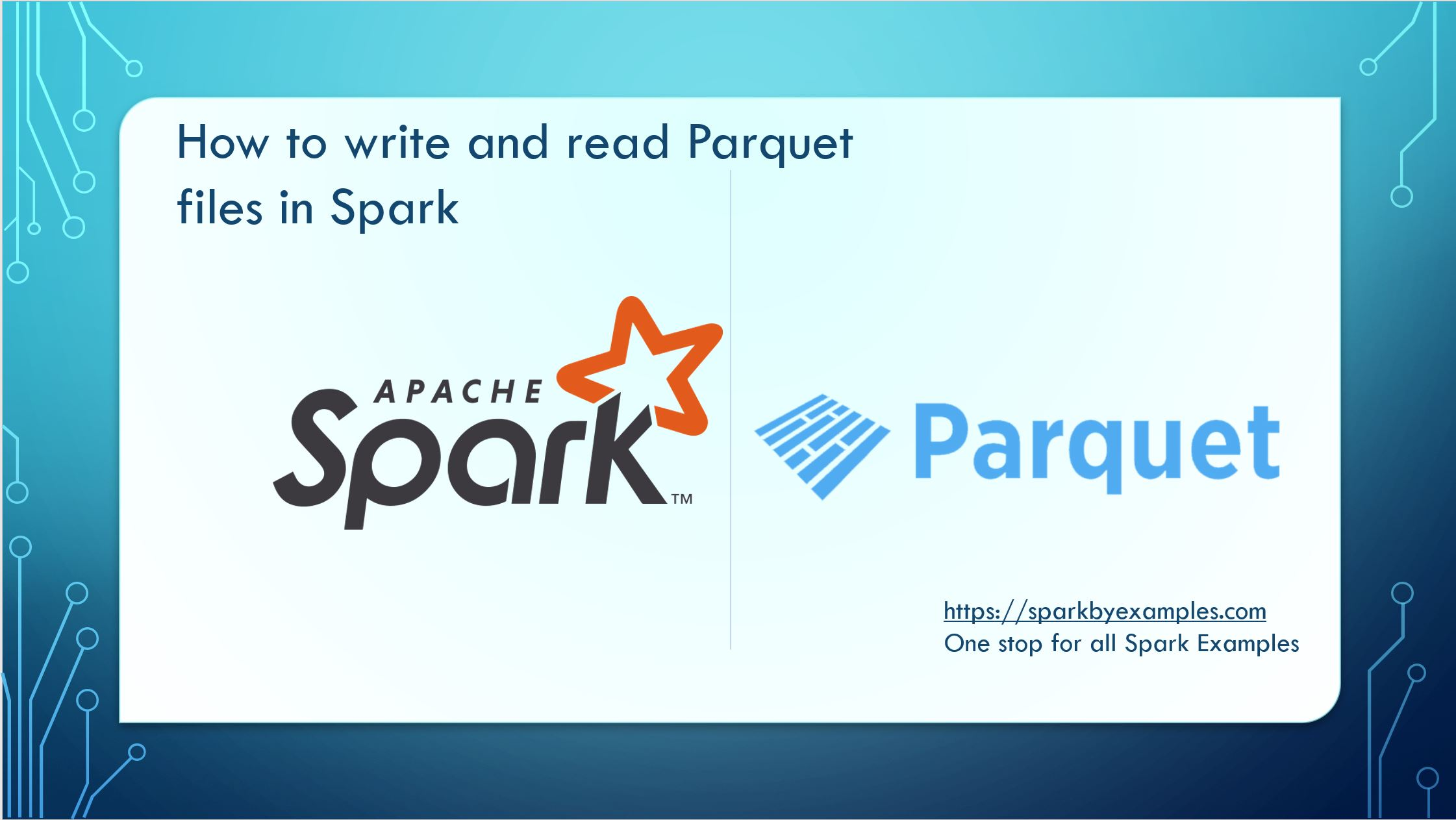 How to read and write Parquet files in Spark  — Spark by {Examples}