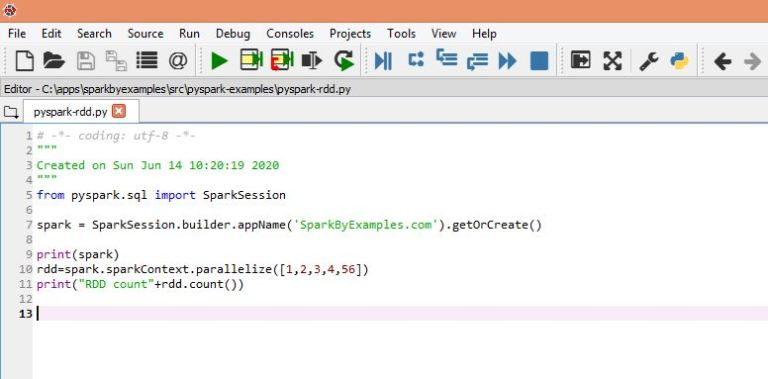 Setup and run PySpark on Spyder IDE