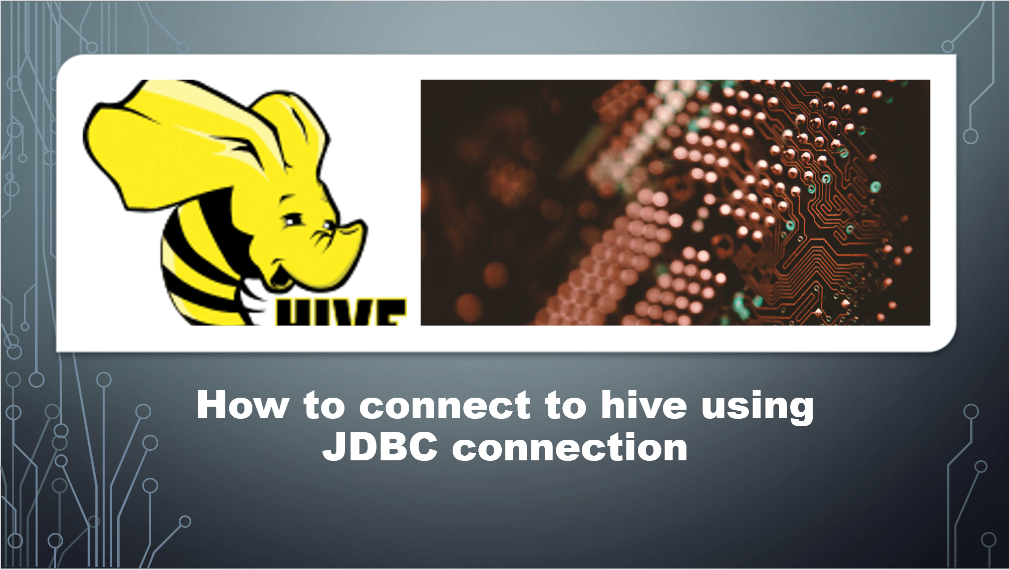 Connect to Hive using JDBC connection