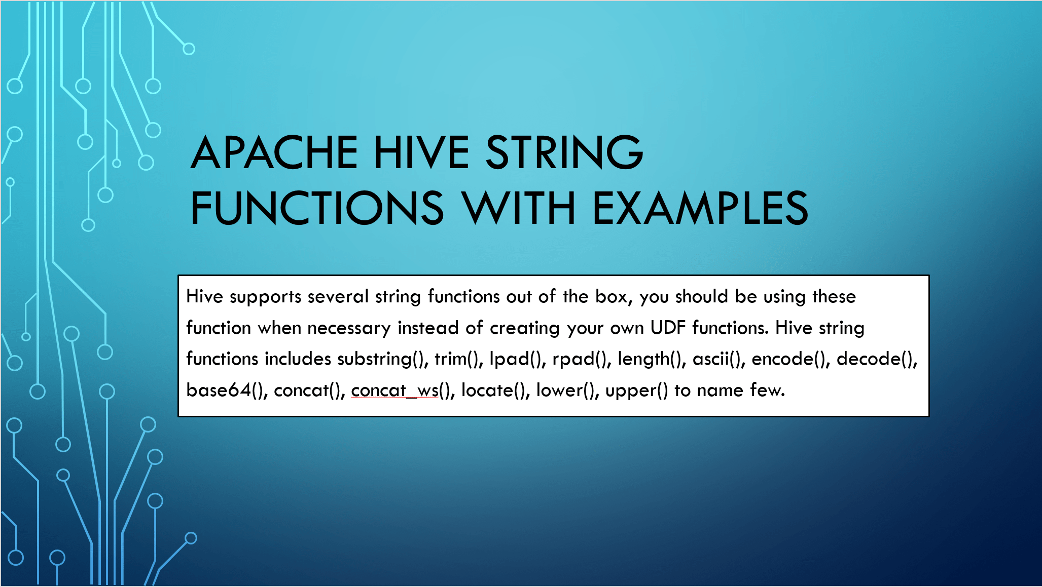Hive Built-in String Functions with Examples