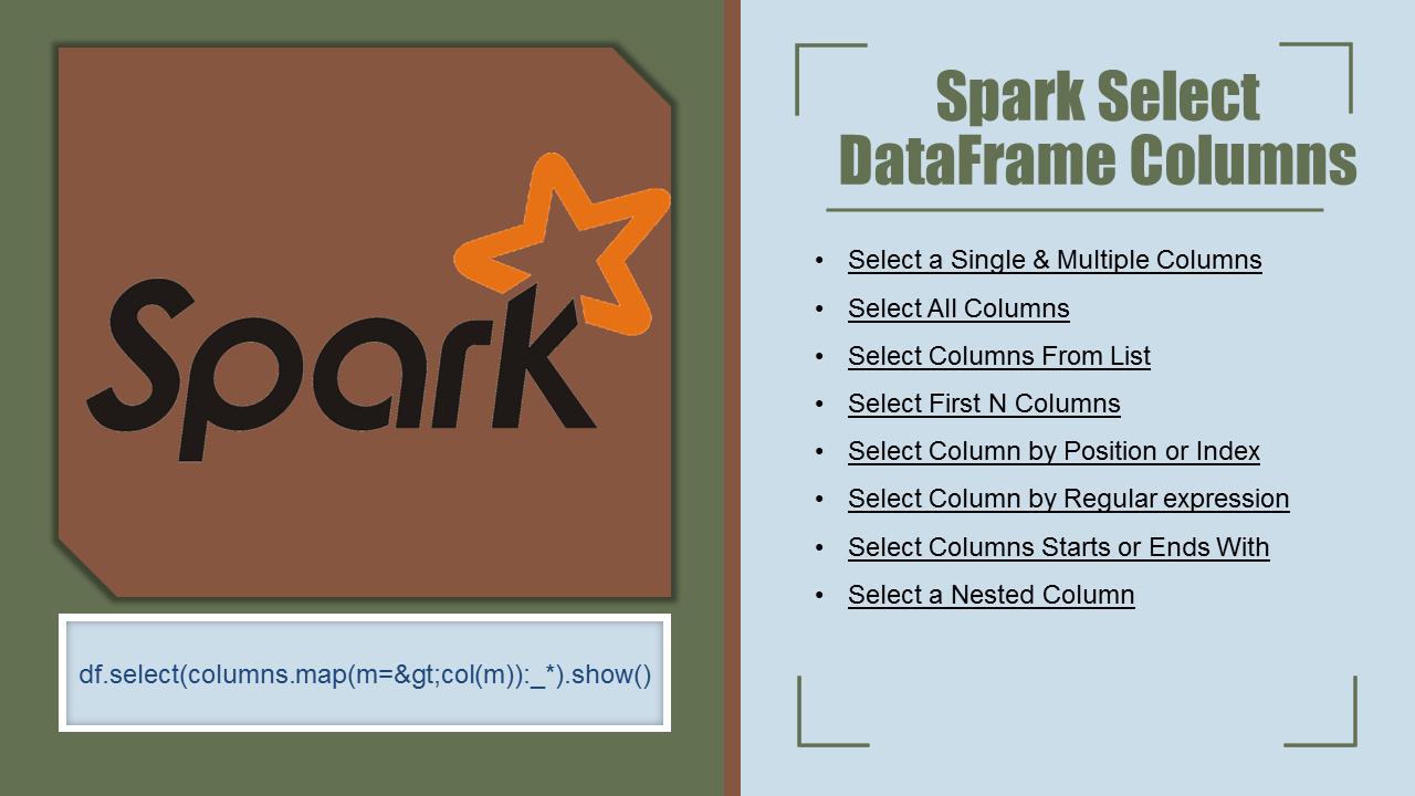 Spark SQL – Select Columns From DataFrame