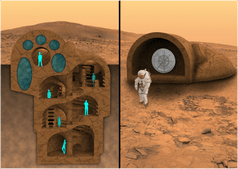 3D Printed House on Mars