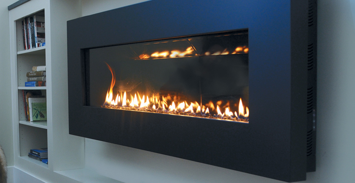 How To Build In A Gas Fireplace Fire Ribbon Direct Vent Slim - Spark Modern Fires