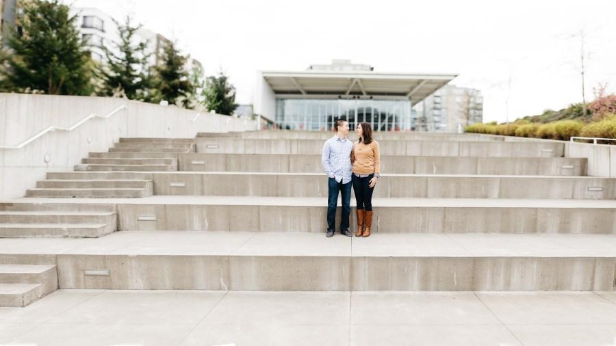 olympic sculpture park engagement photos