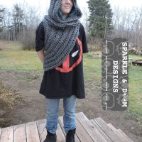 Huntress Hooded Cowl Ta Da!