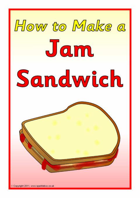 Procedure Text How To Make Sandwich : procedure, sandwich, Sandwich, Instructions, (SB4892), SparkleBox