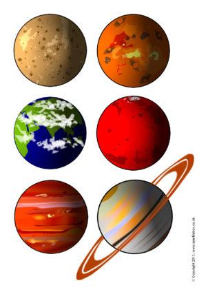 Printable Planet Pictures : printable, planet, pictures, Space, Printables, Primary, School, SparkleBox