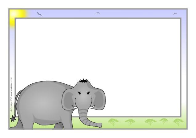 Elephant A4 Page Borders (SB9676)