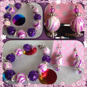 purple swirls collage