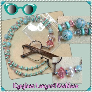 seafoam eyeglass necklace lanyard collage
