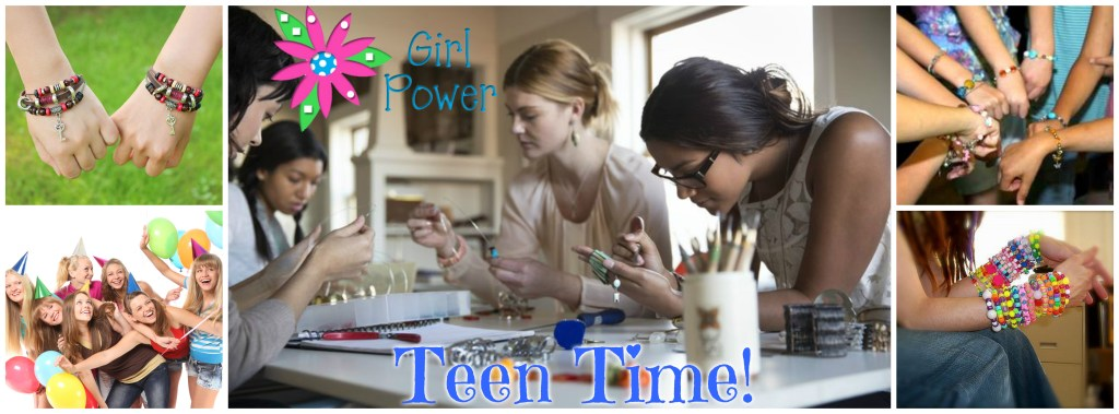 teen time jewelry making party