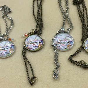Knoxville Tennessee Map Necklace