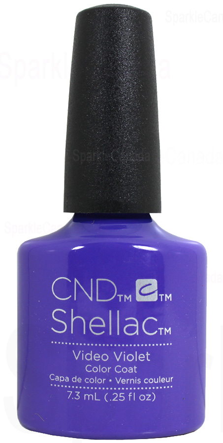 CND Shellac Video Violet By CND Shellac 12 2750 Sparkle Canada One Nail Polish Place