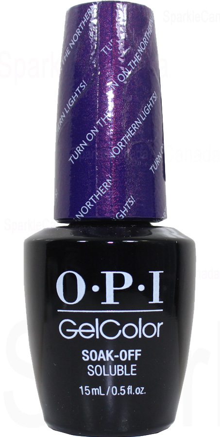 OPI Gel Color Turn On The Northern Lights By OPI Gel Color GCI57 Sparkle Canada One Nail