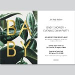 graphics // baby shower invite