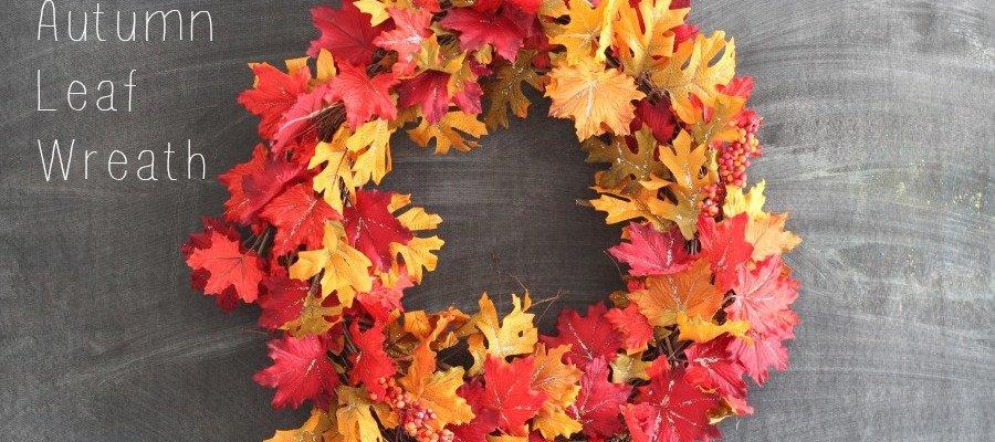 DIY Sparkly Autumn Leaf Wreath