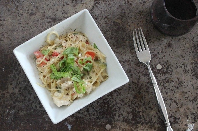 Quick Chicken and Veggie Pasta with Feta – Easy Week Night Meals
