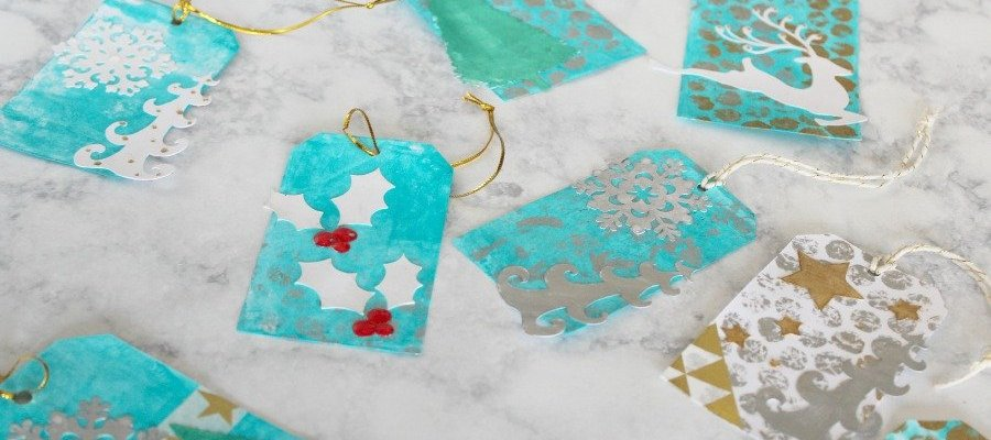Mixed Media Holiday Gift Tags