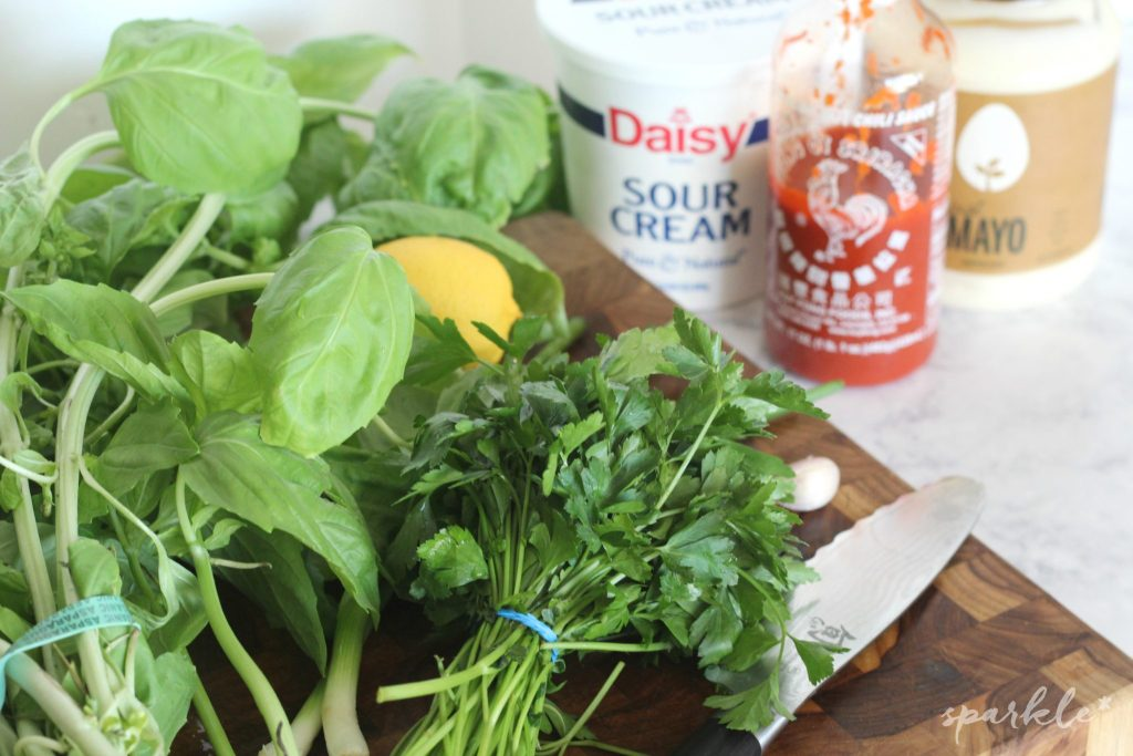 Basil green goddess salad dressing is fresh and flavorful. You can use it on more than just salads and it's way better than the bottled stuff from the grocery store.