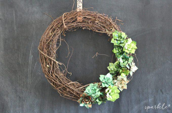 Metallic Succulent Wreath