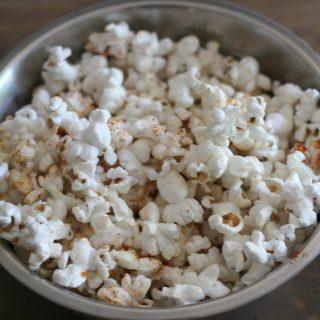 Smokey and spicy popcorn! Easy to make smokey chipotle popcorn recipe.