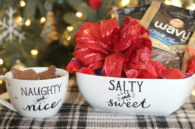 Salty and Sweet Handlettered Chip Bowl
