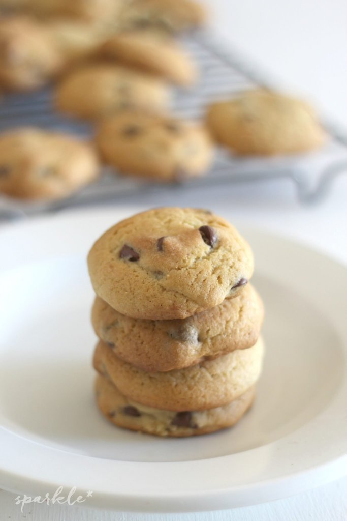 These chocolate chip cookies are better than your average chocolate chip cookie. Why? I'll tell you the secret...