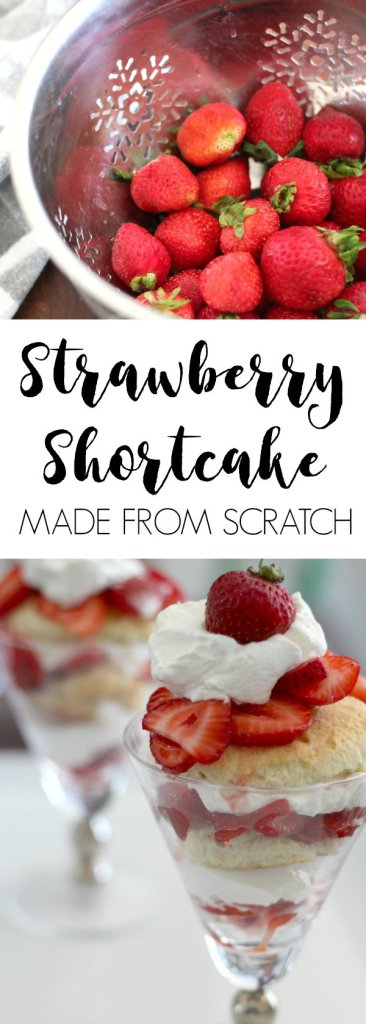 Strawberry shortcake from scratch. Fresh ingredients, just like your grandma made. Or maybe your great-grandma...