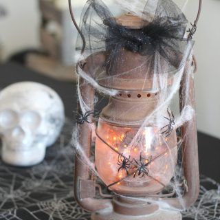 This Halloween lantern will light the way, or not! Make in in a jiff!