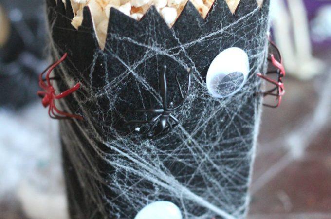 Halloween Spider Web Popcorn Box
