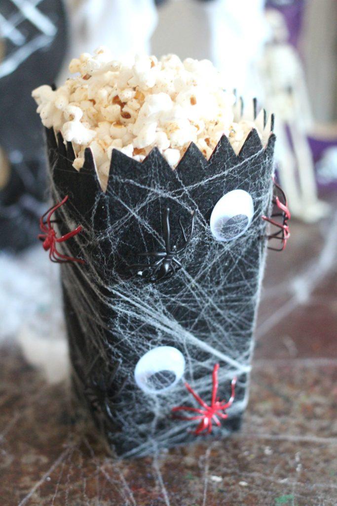 Spider Web Popcorn Box #halloweenpopcornbox2017