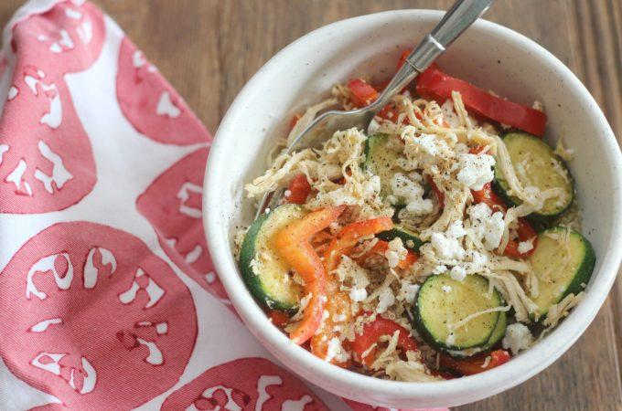 Quinoa Veggie Feta Protein Bowl