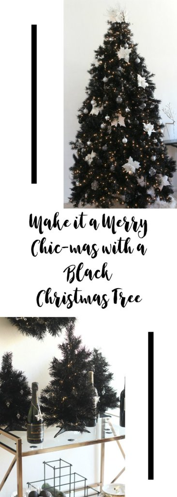 Make it a Merry Chic-mas with a black Christmas tree! #TreetopiaMerryChicmas #TreetopiaGlitzAndGlam #AsChicAsTreetopia #Ad
