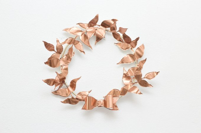 Copper Leaf Wreath