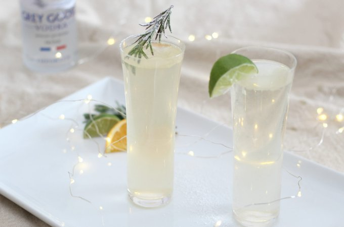 Rosemary and Orange Grey Goose Le Grand Fizz Cocktail