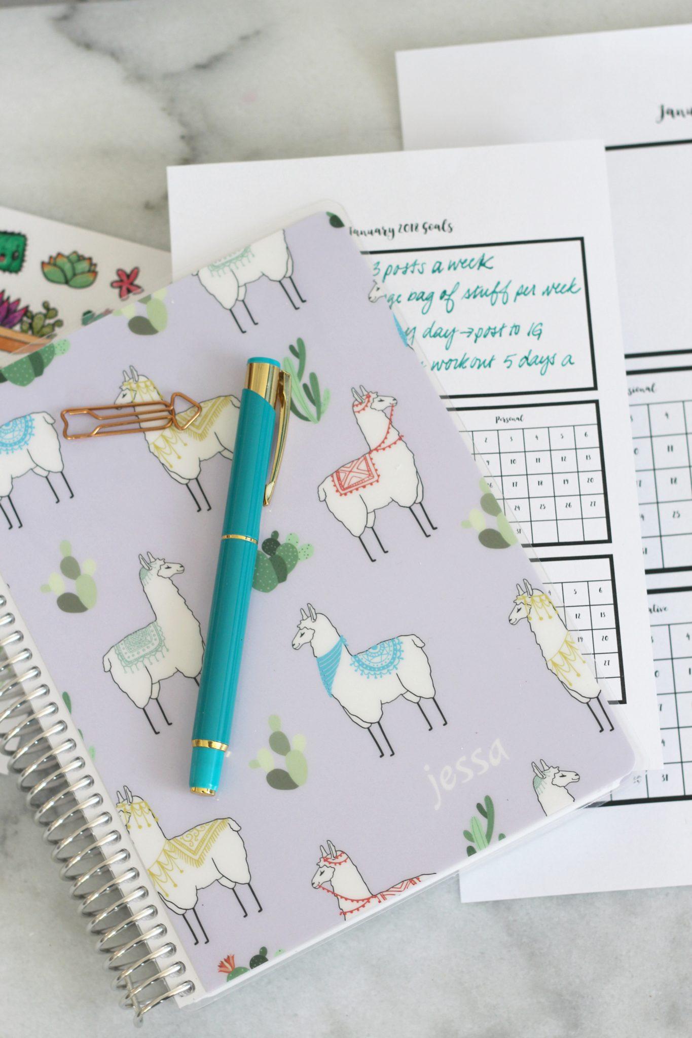 January Goal Tracker Printable For Planners Sparkle Living Blog