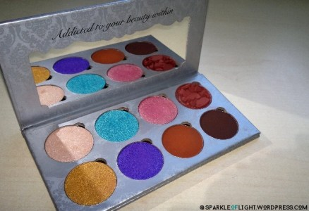 sparkleoflight makeup addiction flaming love palette shadows eyeshadow pressed pigments