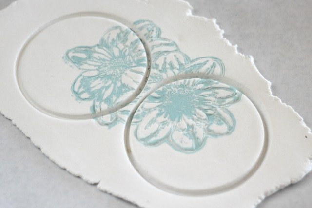 Imprinted Floral Summer Coasters