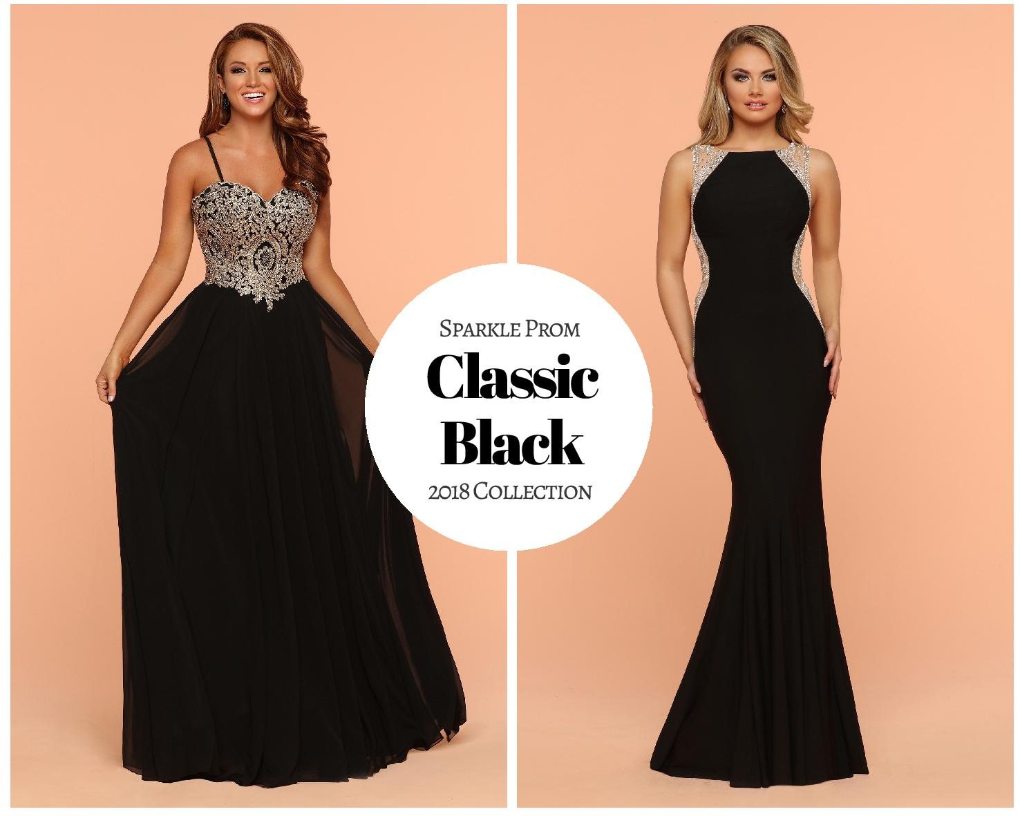 Sparkle Prom Girl's Color Guide: Classic Black Prom Gowns – 2018 Collection
