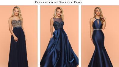 Deep Blue Pageant Gowns & Long Evening Dresses – 2018 Sparkle Prom Fashion Blog